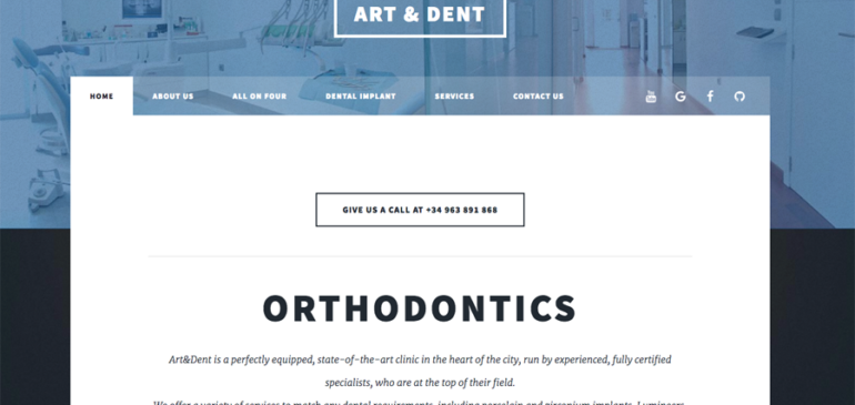 New Web Site for Dental Implant Clinic (Art&Dent)